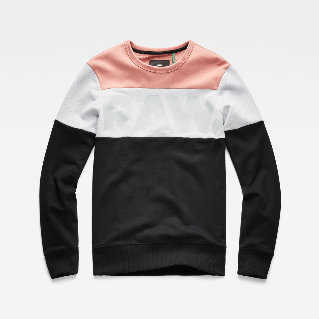 Men's G-Star RAW Libe Core Sweater Black Tea Rose