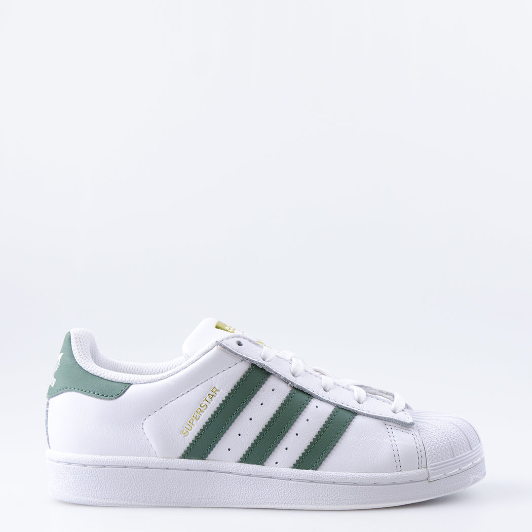 Kid's Adidas Originals Superstar J Shoes Trace Green