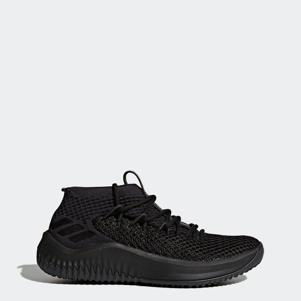 Kid's adidas Basketball Dame 4 Shoes Black with Scarlet