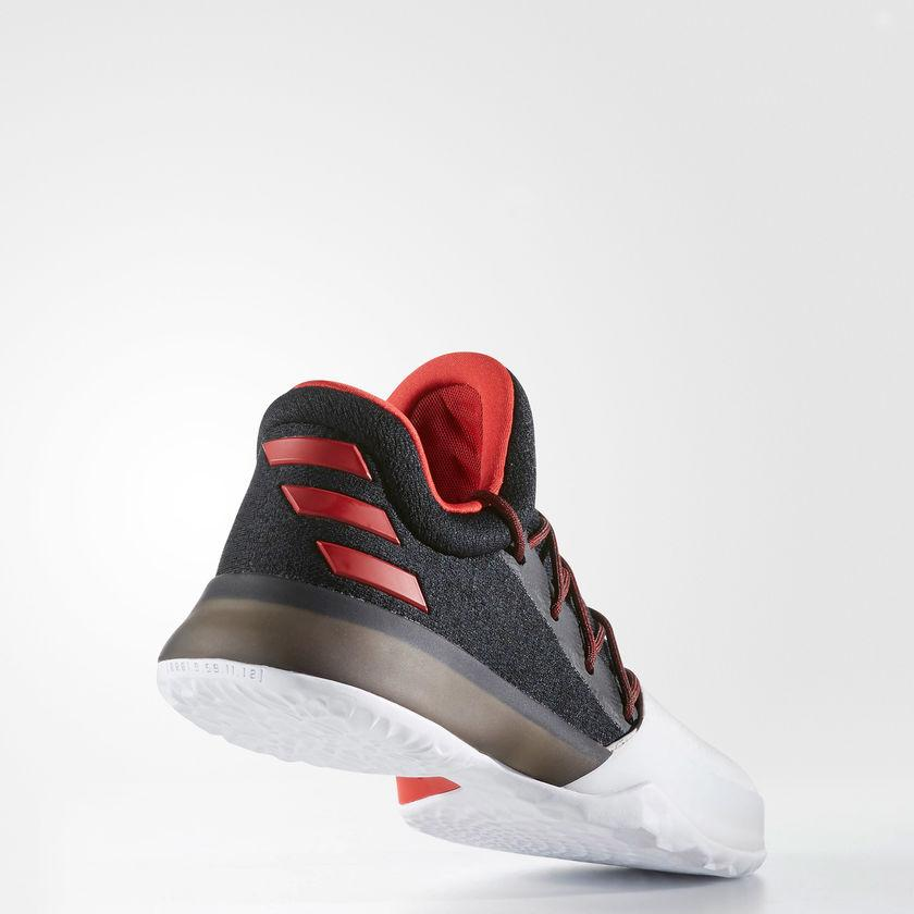 Kid's adidas Basketball Harden Vol. 1 Shoes Black with Scarlet Red and White