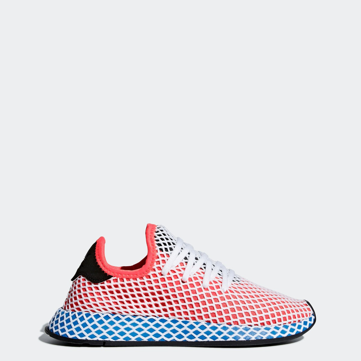 97a8e0094b317 Kid s adidas Originals Deerupt Runner Shoes Solar Red and Bluebird ...