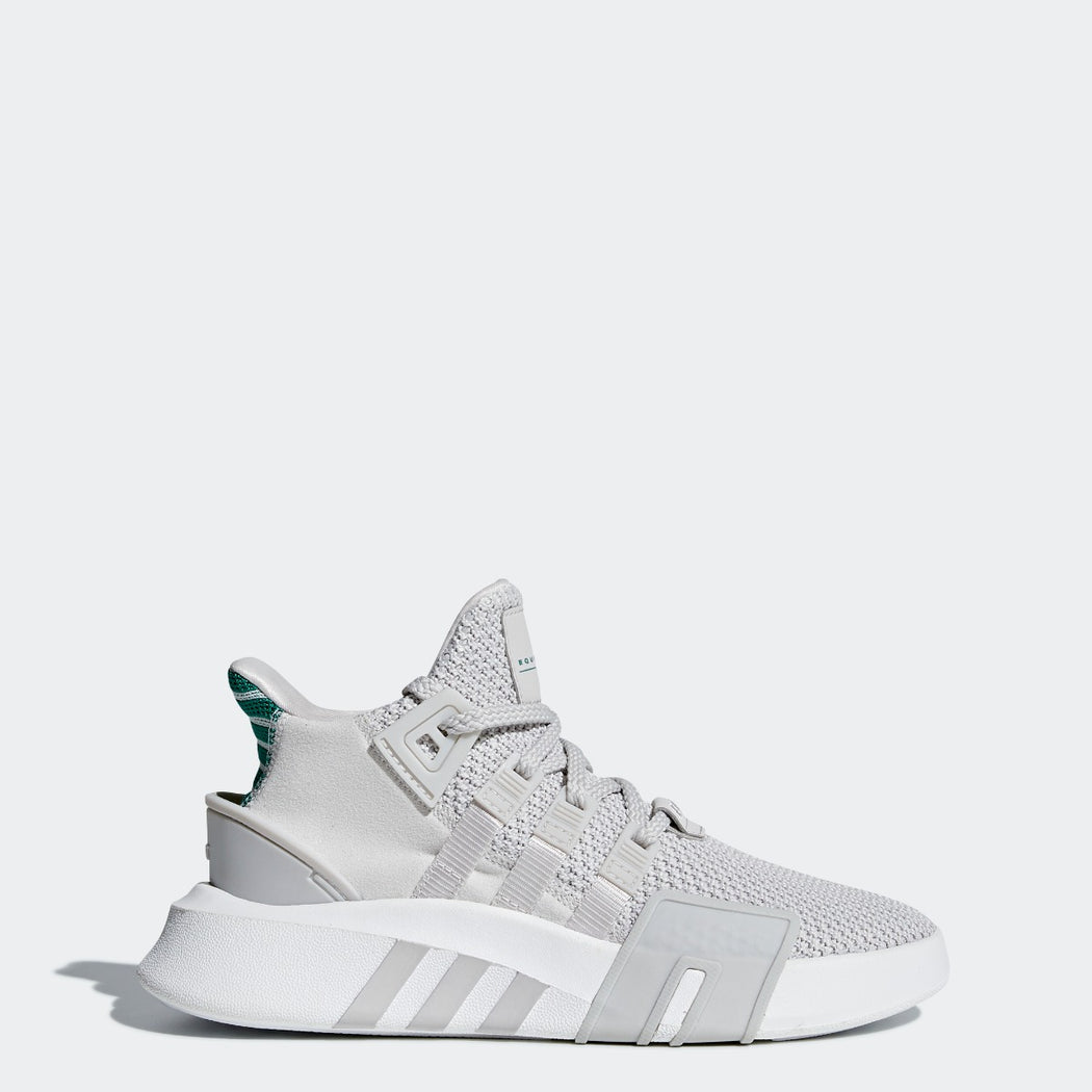 Kid's adidas Originals EQT Bask ADV Shoes Gray with Sub Green
