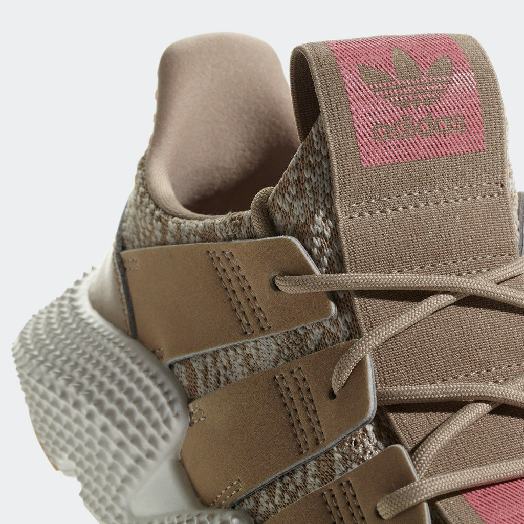 Kid's adidas Originals Prophere Shoes Trace Khaki AQ0508 | Chicago City Sports | tongue and laces view