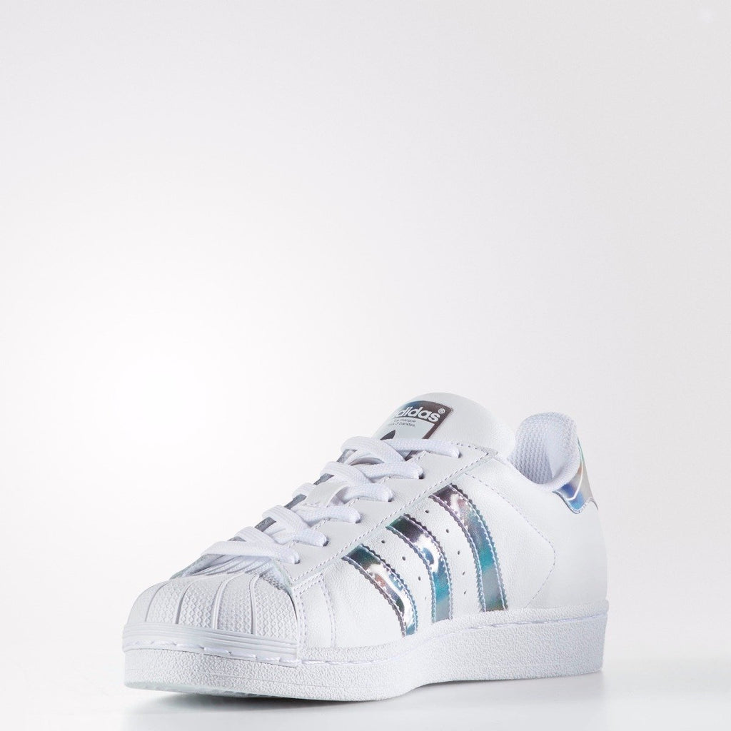 Kid's adidas Originals Superstar Shoes White Iridescent Metallic