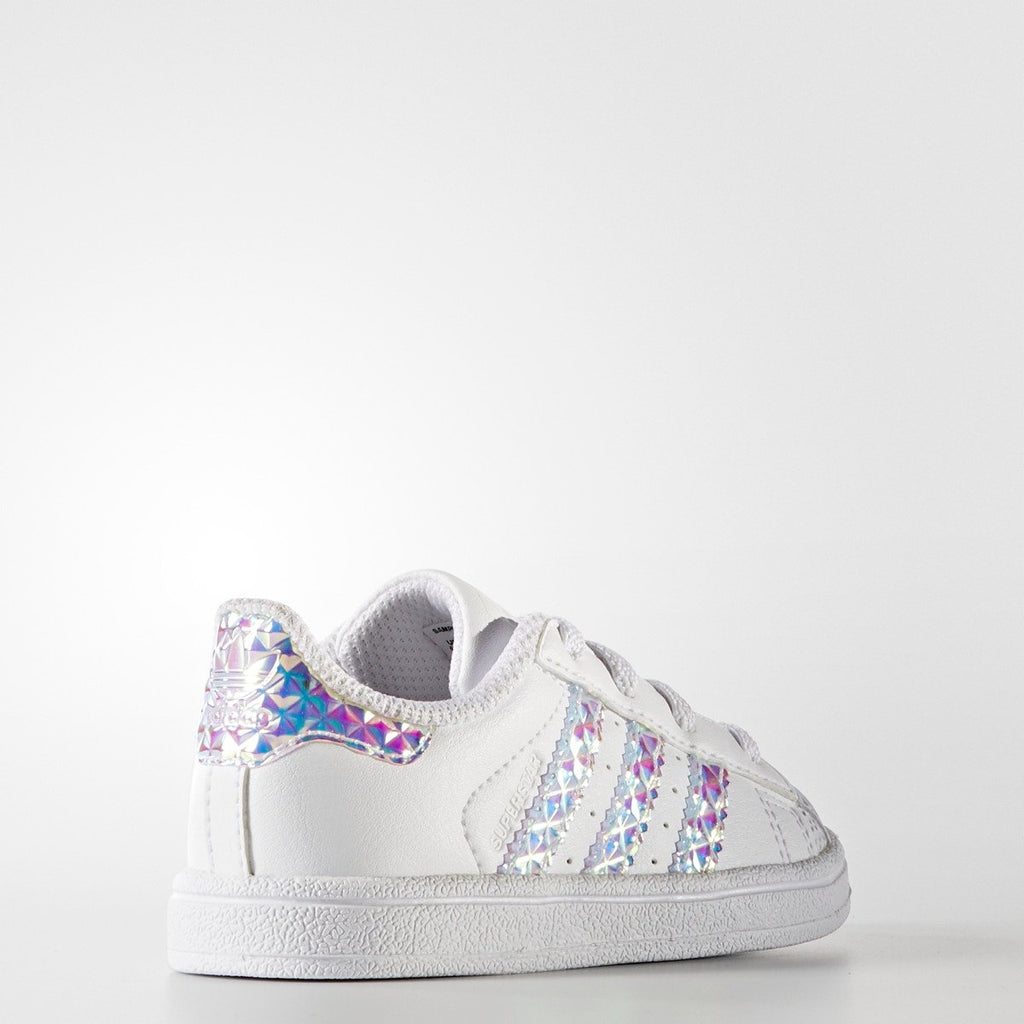 Toddler's adidas Originals Superstar Shoes Iridescent