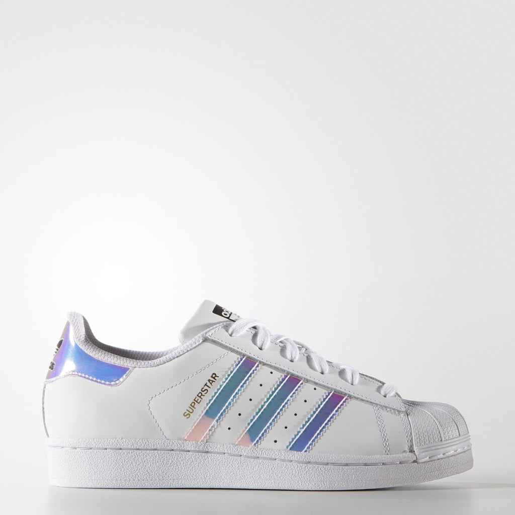 Kids adidas Superstar Shoes White Hologram Iridescent AQ6278 | Chicago City Sports | side view