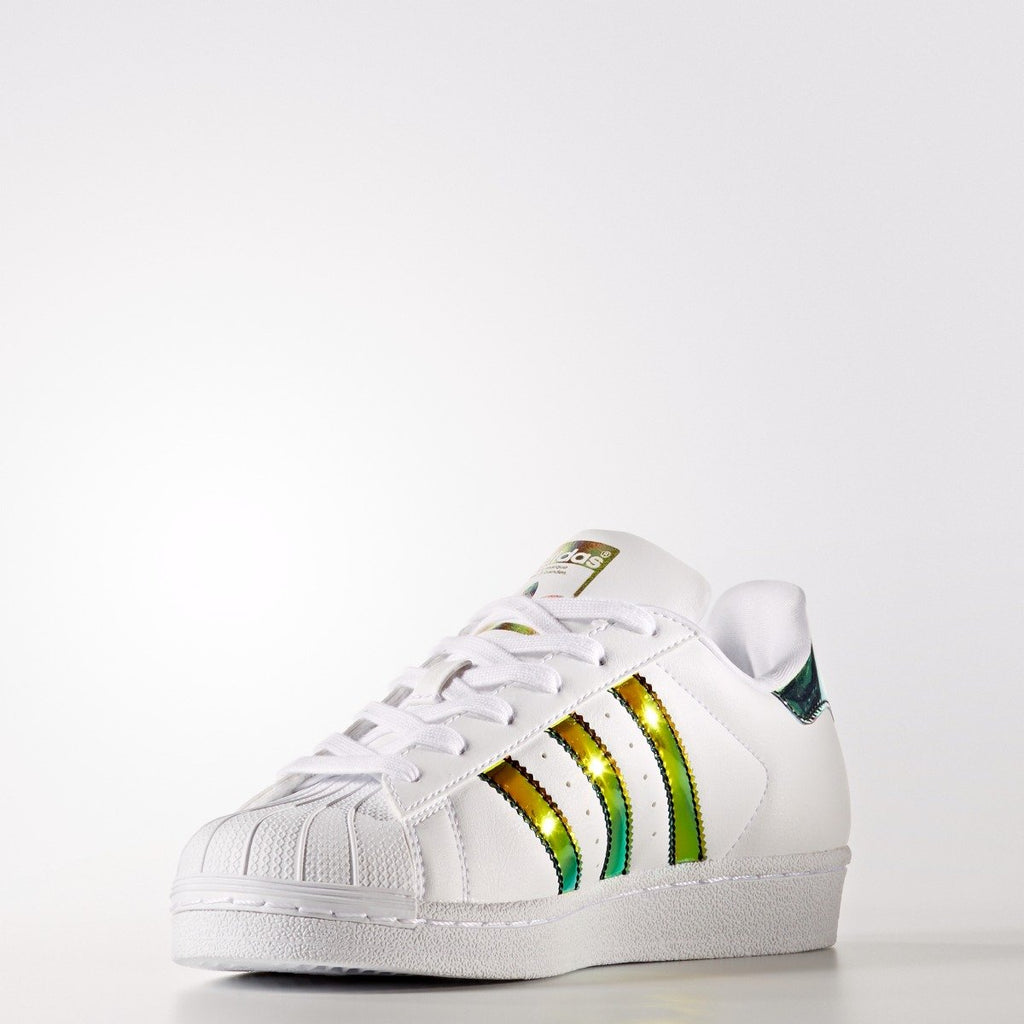 Kid's adidas Originals Superstar Shoes Gold Iridescent