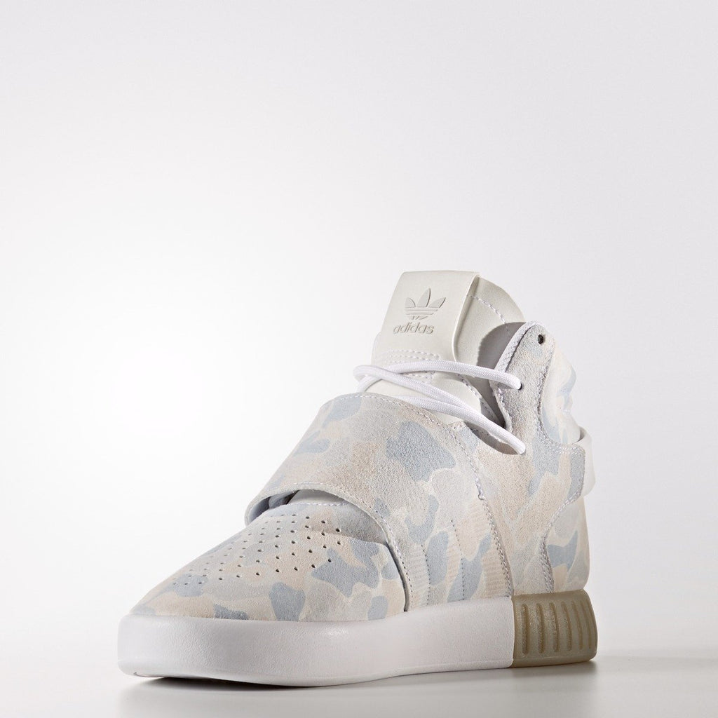 Kid's adidas Originals Tubular Invader Strap Shoes White Camo