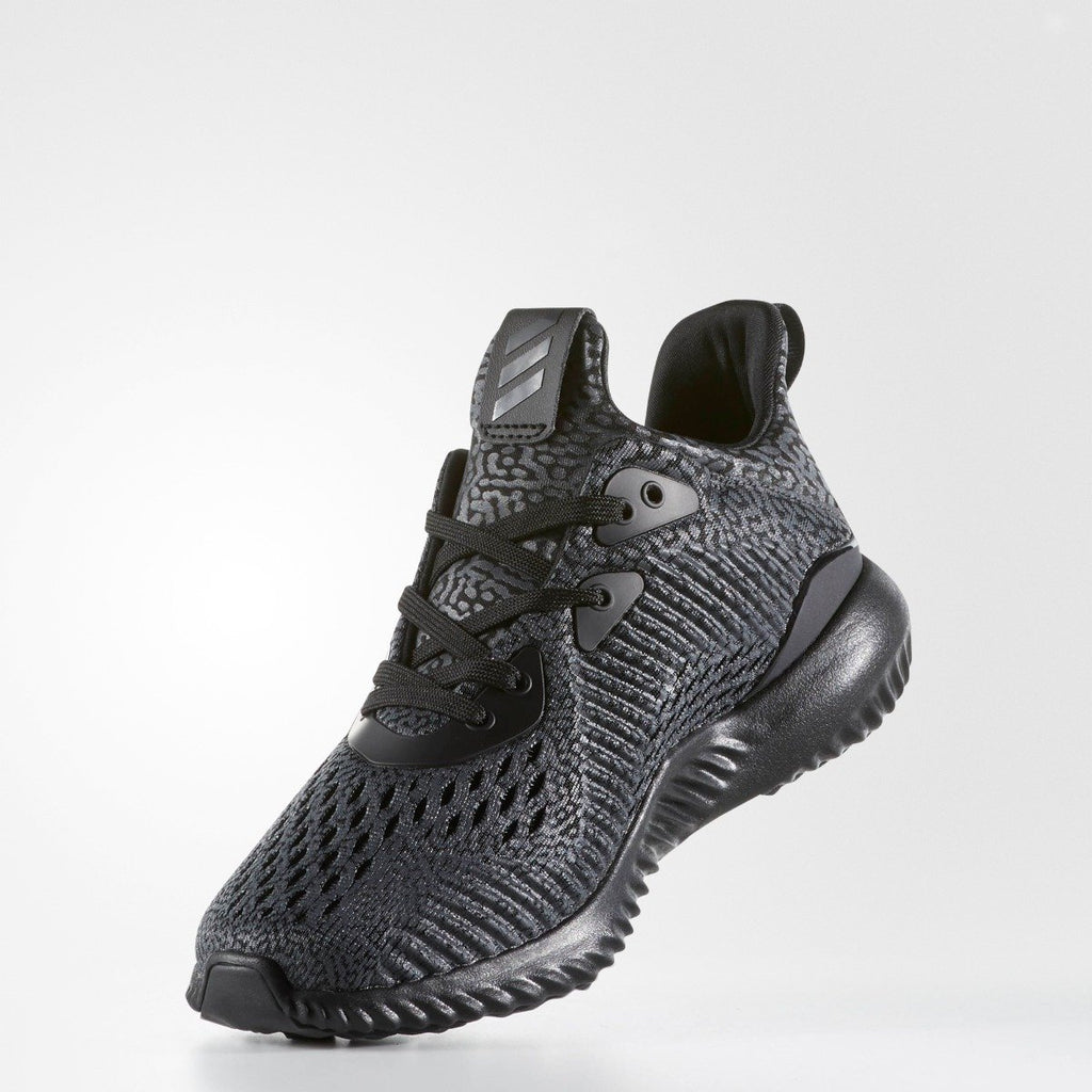Kid's Adidas Running Alphabounce AMS Black BW0576 | Chicago City Sports | side interior view