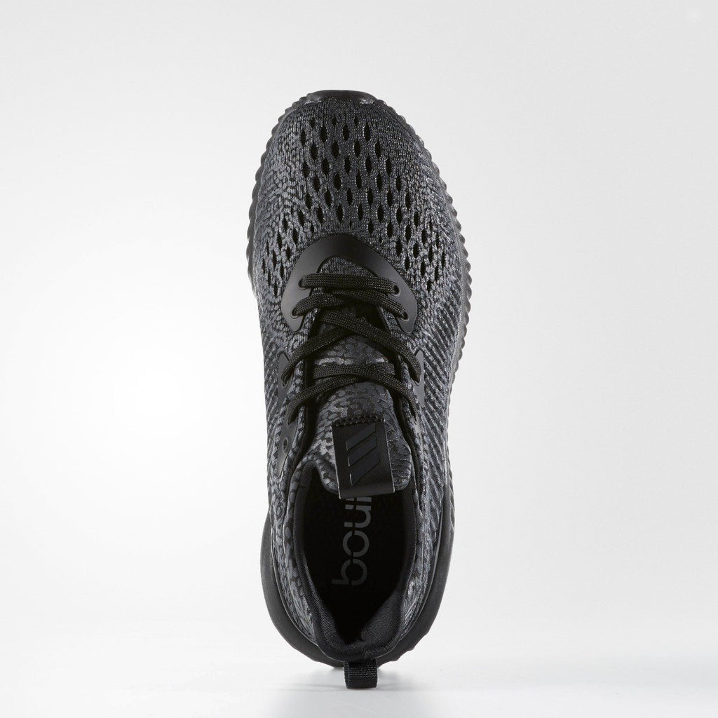 Kid's Adidas Running Alphabounce AMS Black BW0576 | Chicago City Sports | top view