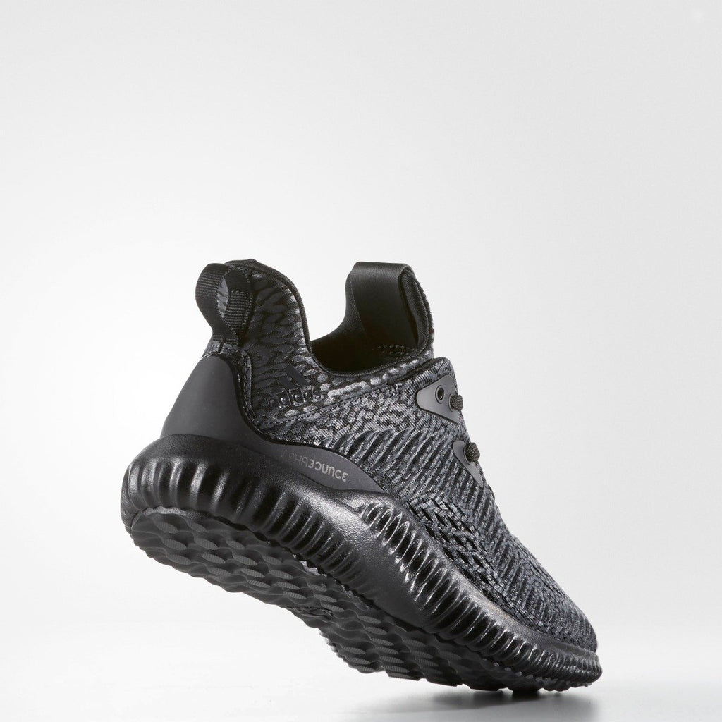 Kid's Adidas Running Alphabounce AMS Black BW0576 | Chicago City Sports | back view