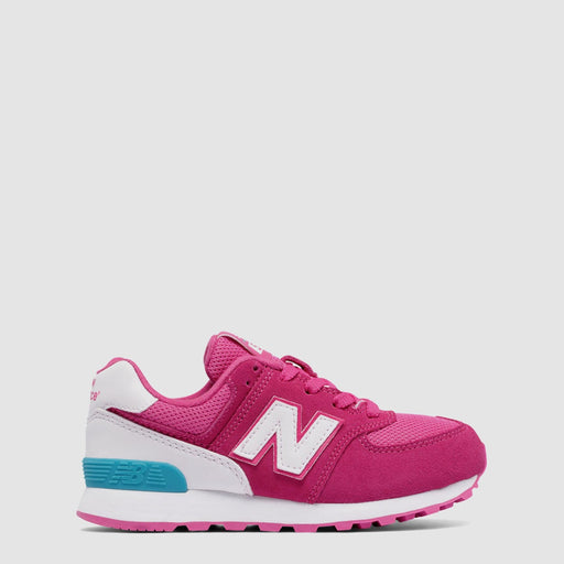 PRE-SCHOOL NEW BALANCE 574 HIGH VISIBILITY PINK FLAMINGO