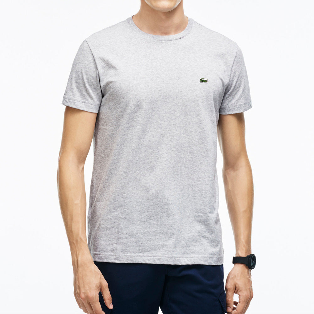 Lacoste White Basic T-Shirt Gray