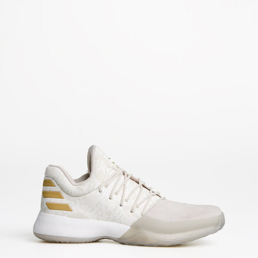 Men's adidas Harden Vol 1 Basketball Shoes Clear Brown and Off White