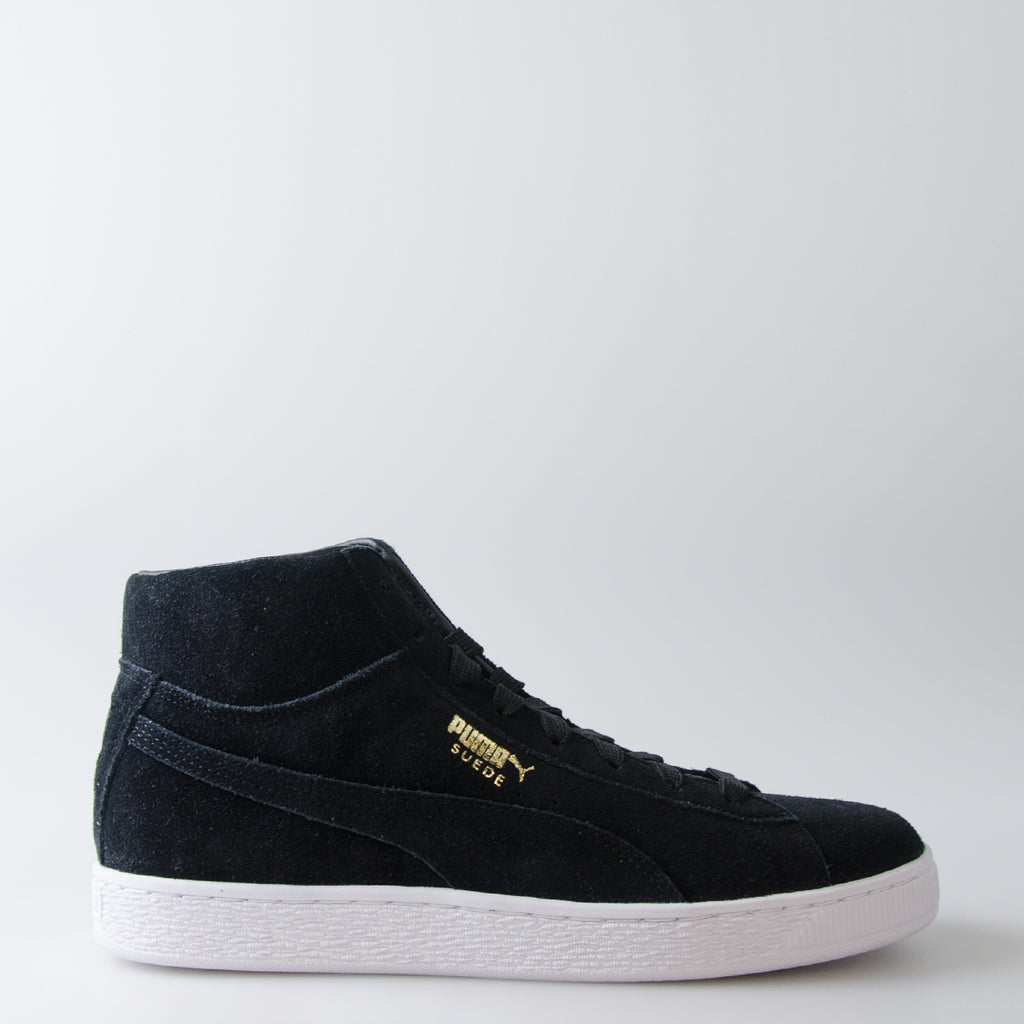 Men's Puma Suede Classic Mid Shoes Black