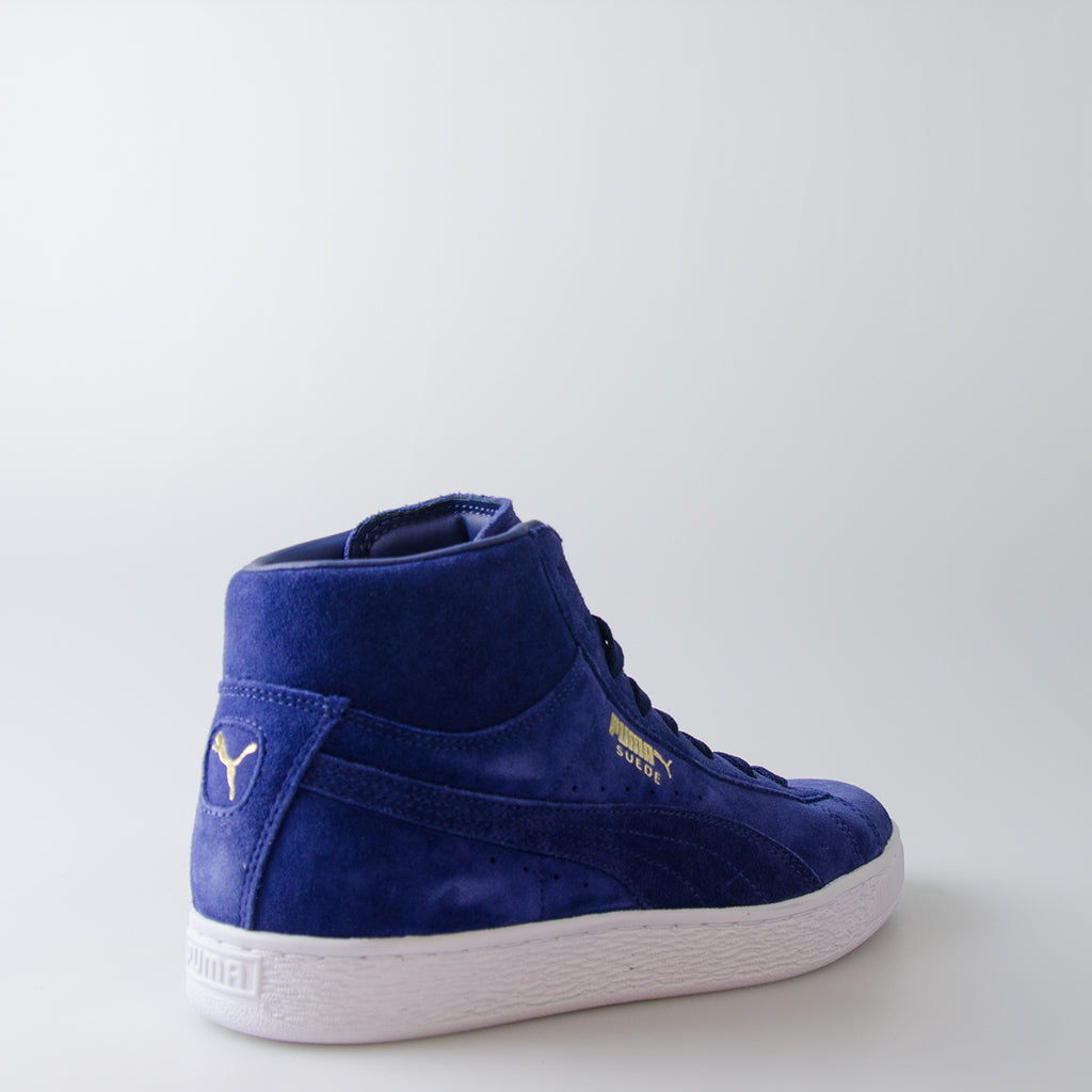 Men's Puma Suede Classic Mid Shoes Blue Depths