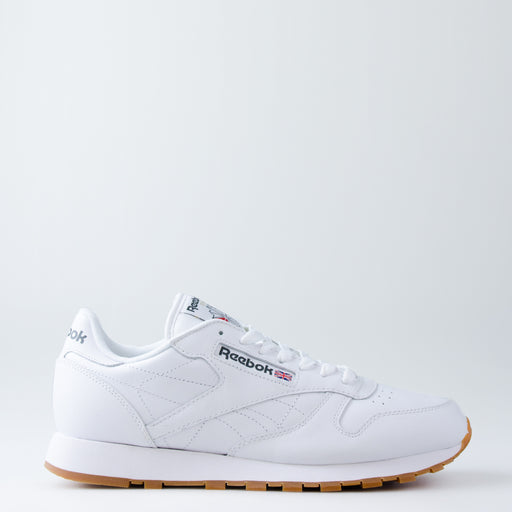 Men's Reebok Classics Leather Shoes White Gum