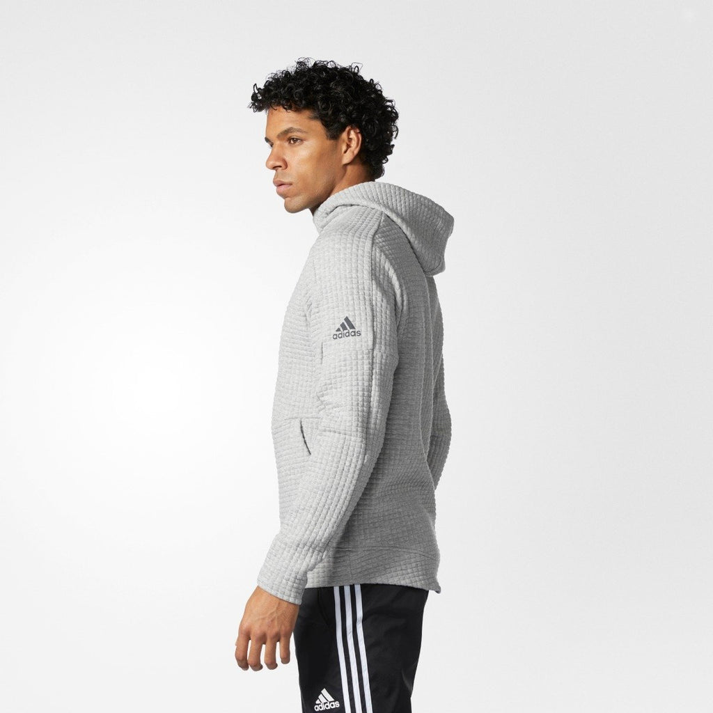 Men's adidas Athletics Squad Hoodie Gray Heather