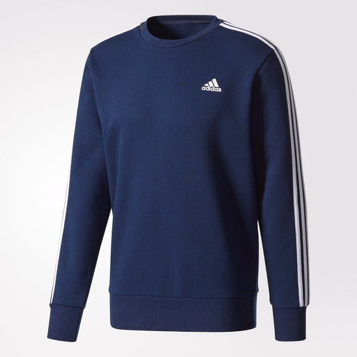 Men's adidas Athletics Essentials 3-Stripes Crew Sweatshirt Collegiate Navy
