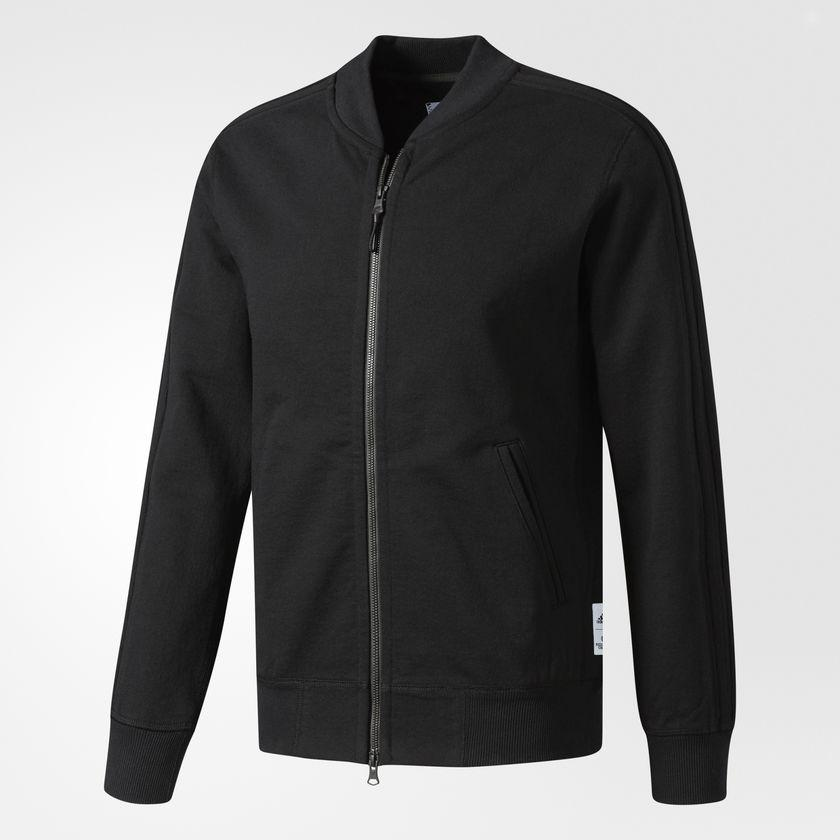 Men's adidas Athletics x Reigning Champ Track Jacket Black CI0221 | Chicago City Sports | front view
