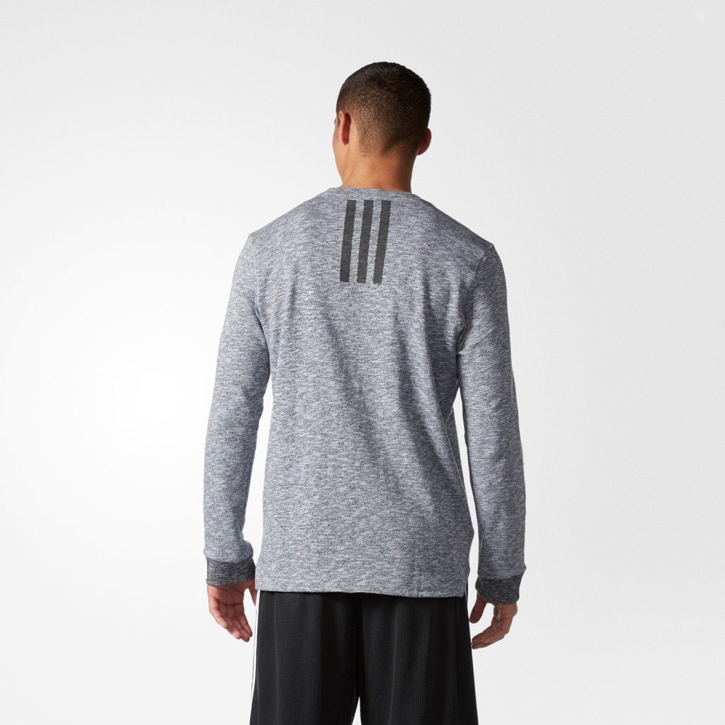Men's Adidas Cross-up Long Sleeve T-shirt Gray