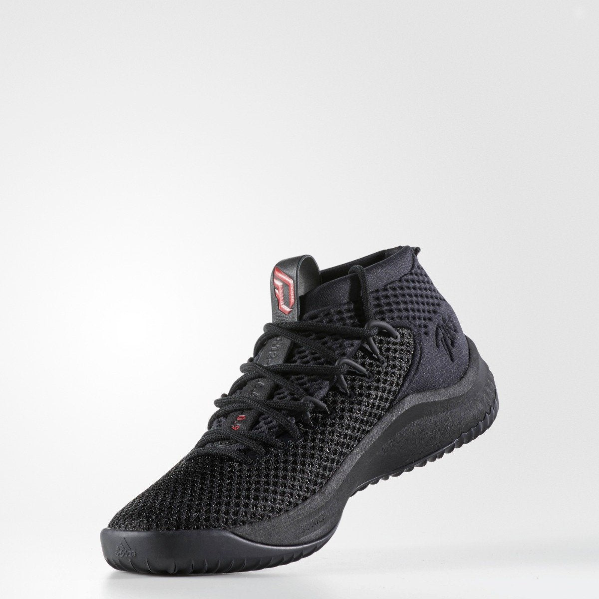 timeless design 852fb b8d15 Mens adidas Dame 4 Basketball Shoes Core Black with Scarlet. 1