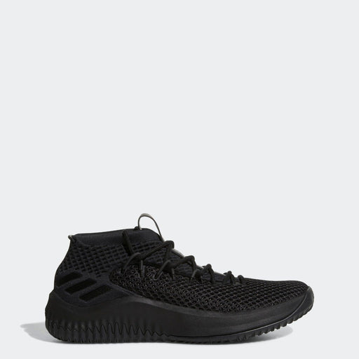 Men's adidas Dame 4 Basketball Shoes Core Black with Scarlet