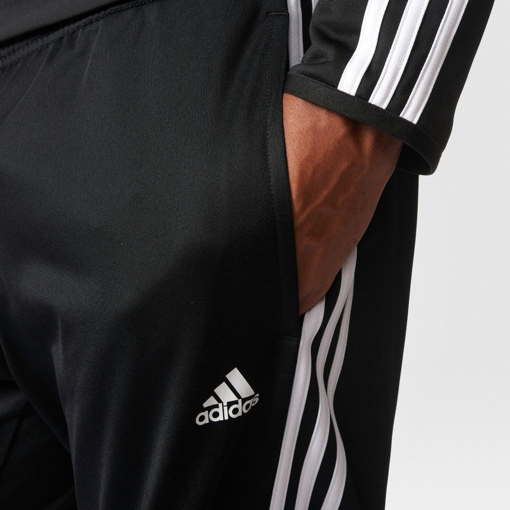 Men's adidas Essentials 3 Stripes Regular Fit Tricot Pants Black