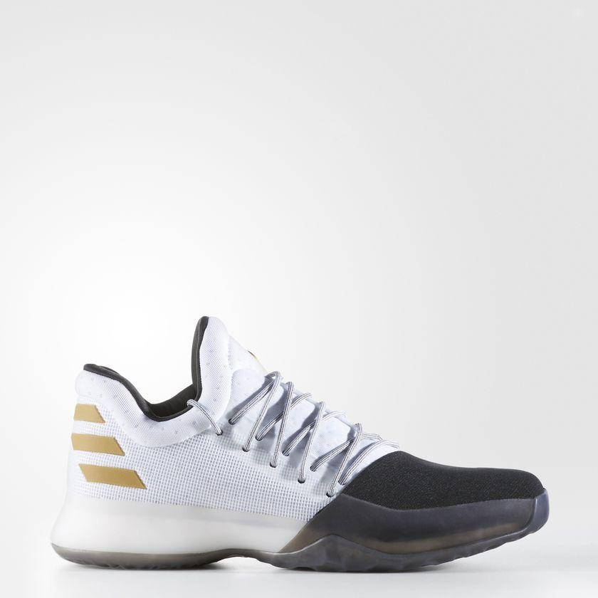 Men s adidas Harden Vol 1 Basketball Shoes White and Gold Metallic BW0552  450d7df0f