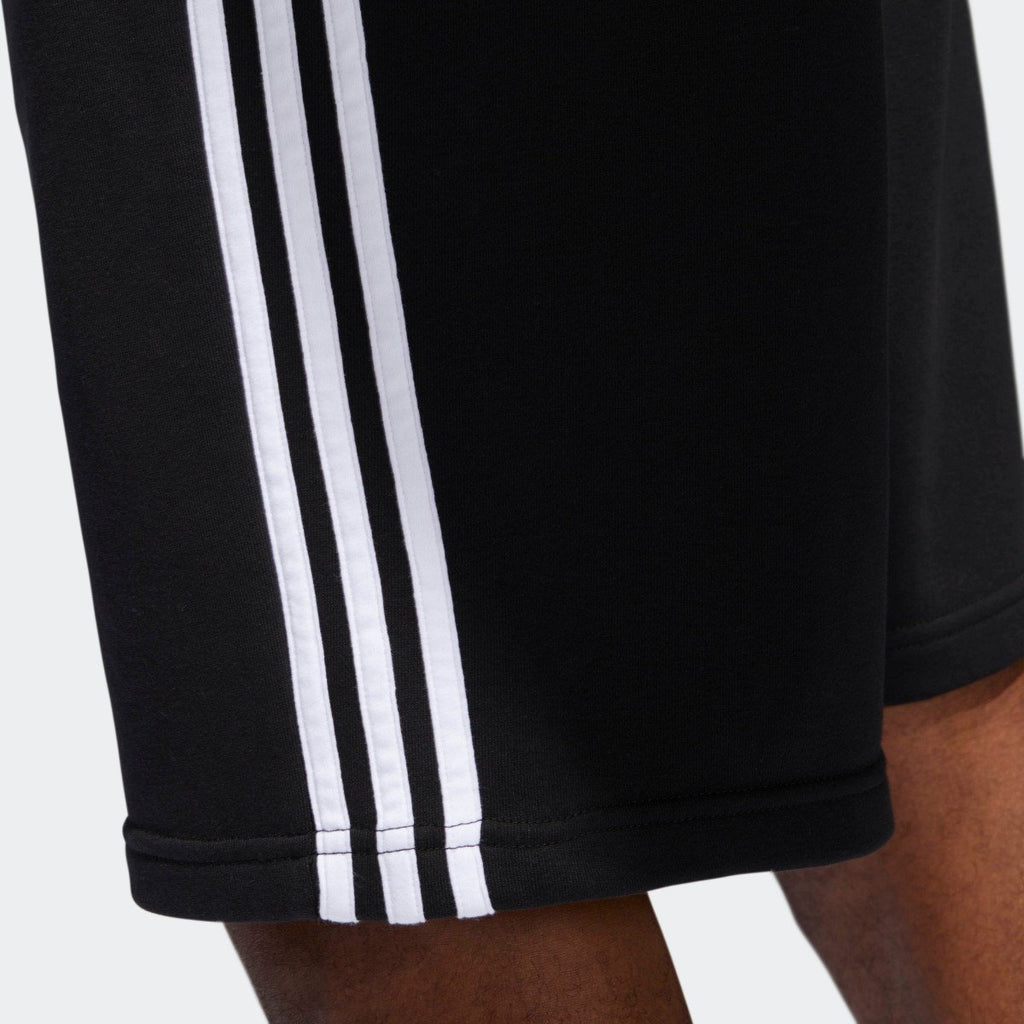 Men's adidas Originals 3-Stripes French Terry Shorts Black