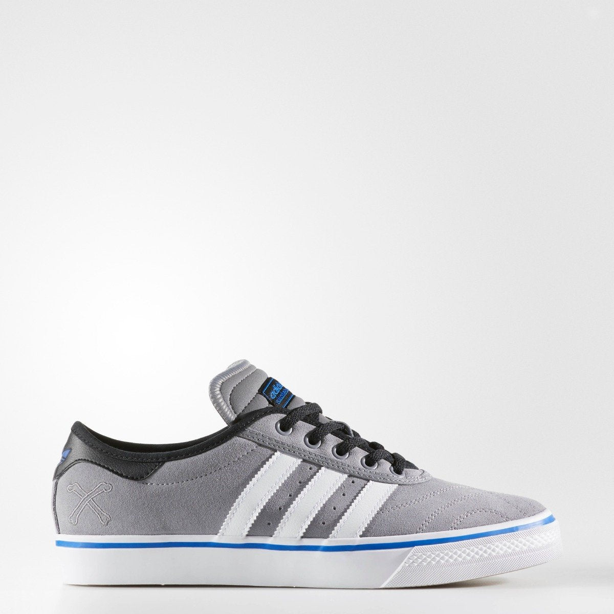 hot sale online e5b43 e68f2 Mens adidas Originals adiease Premiere ADV Shoes Grey with White and Blue