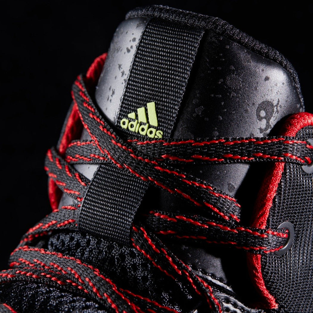 Men's adidas Originals Ball 365 Infiltrate Basketball Shoes Black with Yellow and Red