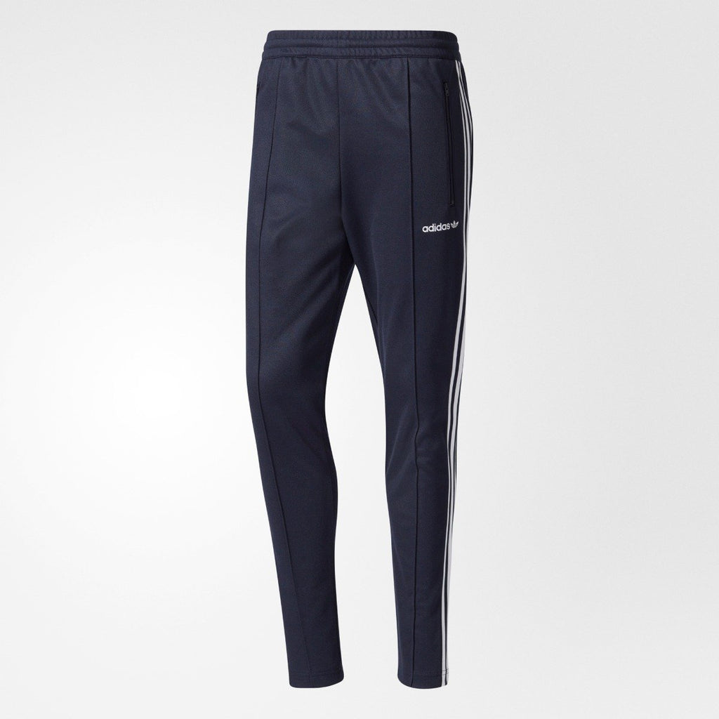 Men's Adidas Originals Beckenbauer Open Hem Track Pants Navy