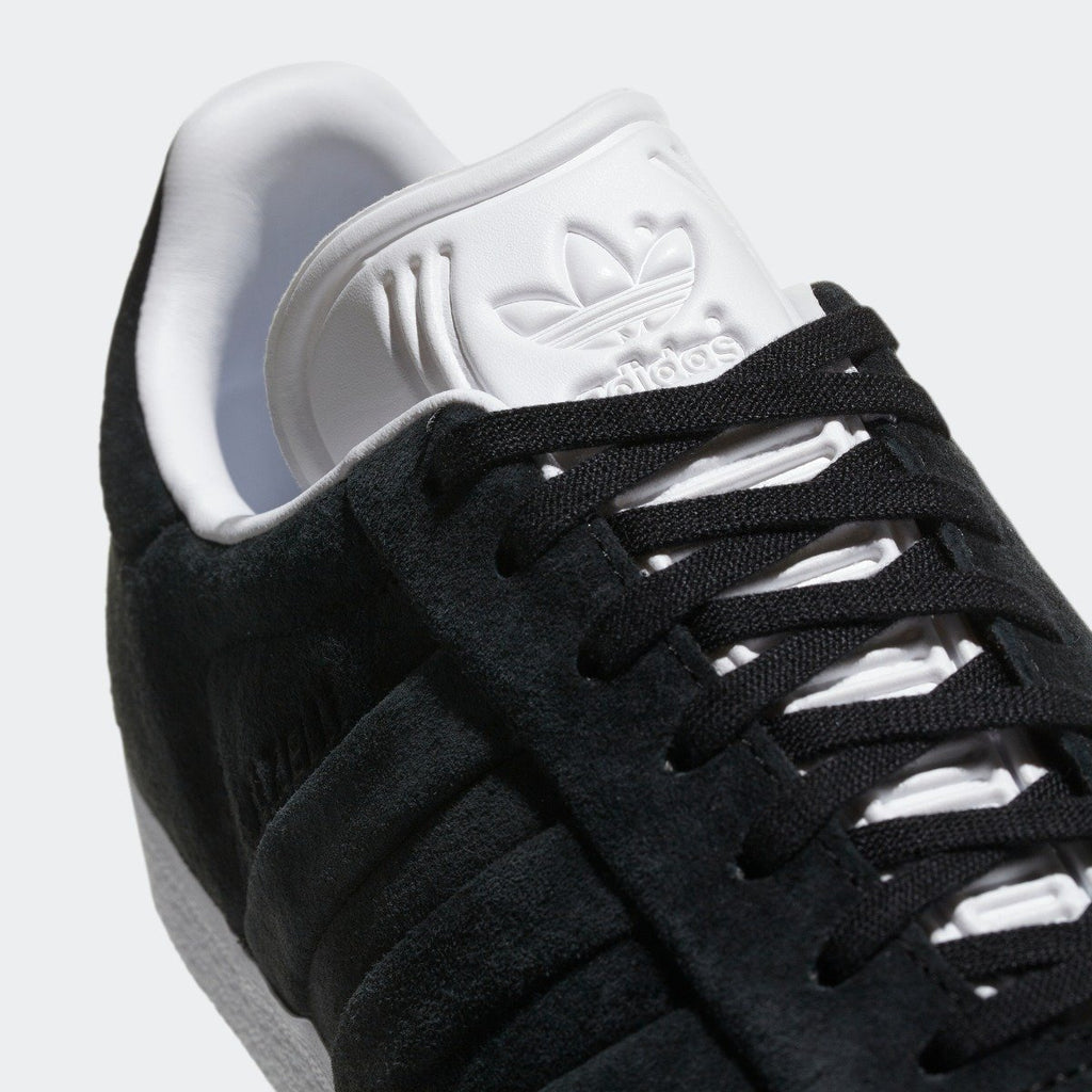 Men's adidas Originals Campus Stitch and Turn Shoes Core Black with Cloud White CQ2358 | Chicago City Sports | tongue and laces view