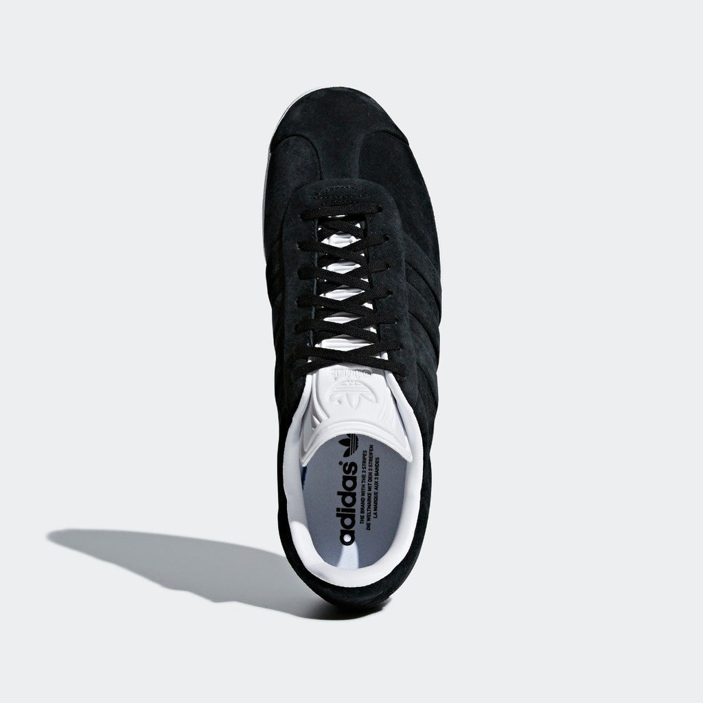 Men's adidas Originals Campus Stitch and Turn Shoes Core Black with Cloud White CQ2358 | Chicago City Sports | top view