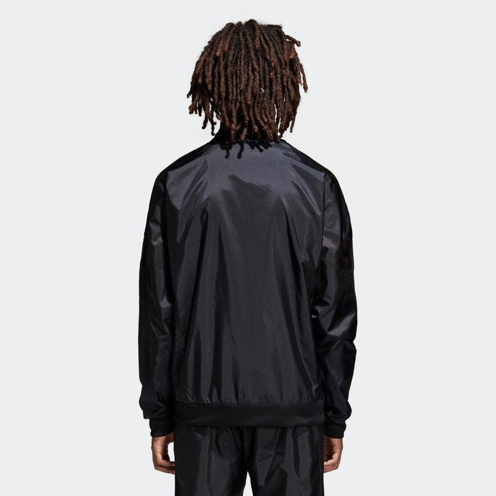 Men's adidas Originals CLR-84 Woven Track Jacket Black CV4603 | Chicago City Sports | rear view