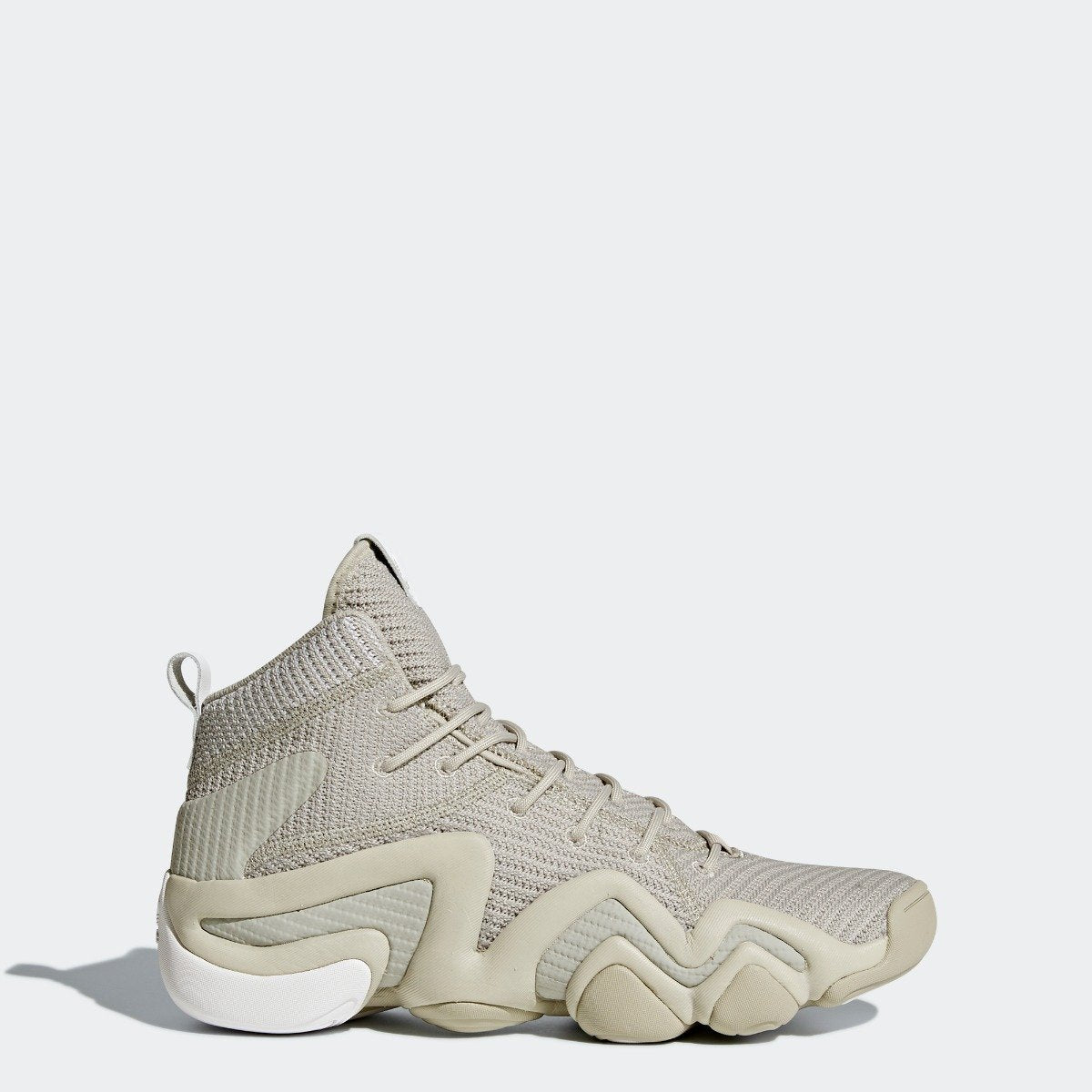 new styles eafe8 87d2c Mens adidas Originals Crazy 8 ADV Primeknit Shoes Sesame with White