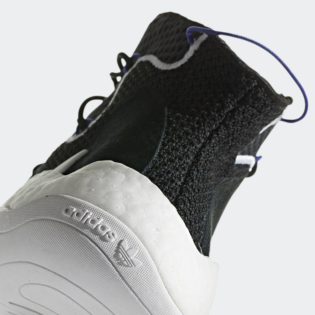 Men's adidas Originals Crazy BYW Shoes Black and White CQ0991 | Chicago City Sports | rear view