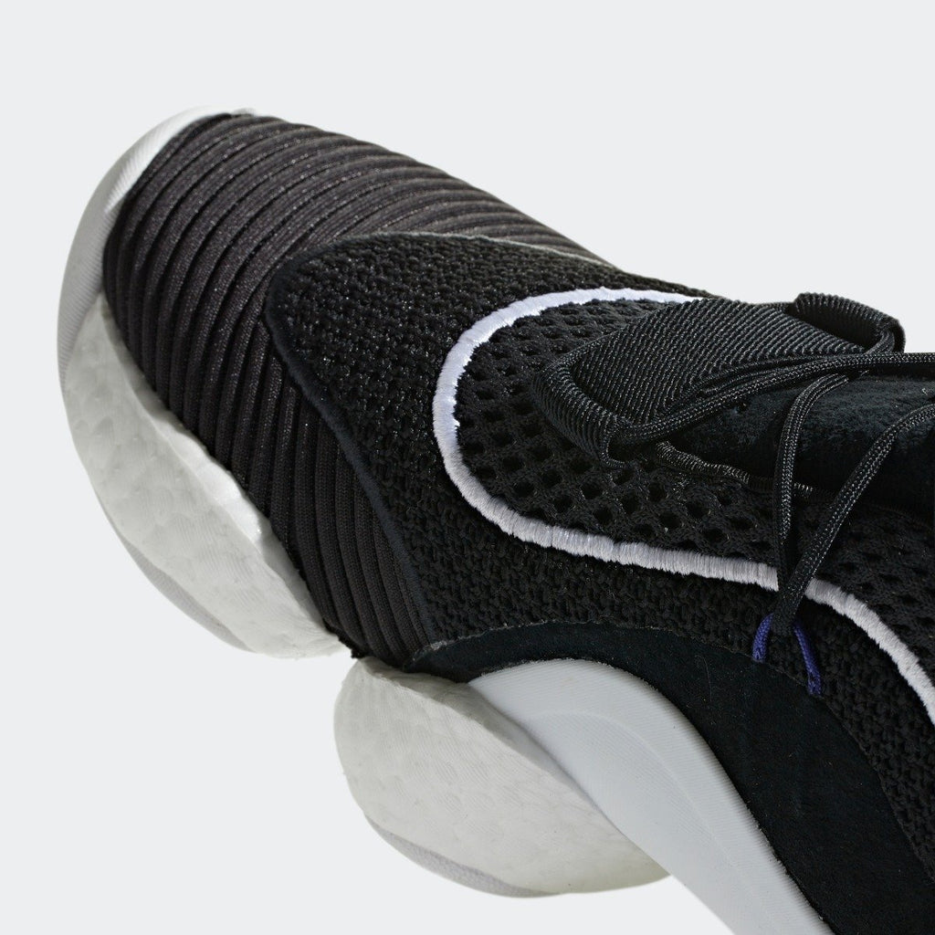 Men's adidas Originals Crazy BYW Shoes Black and White CQ0991 | Chicago City Sports | detailed toe area view