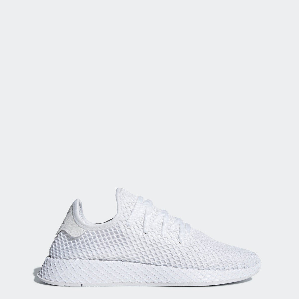 Men's adidas Originals Deerupt Runner Shoes Cloud White CQ2625 | Chicago City Sports | side view