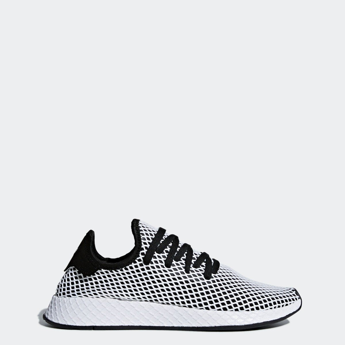 7ef75c7f490b9 Men s adidas Originals Deerupt Runner Shoes Core Black and White ...