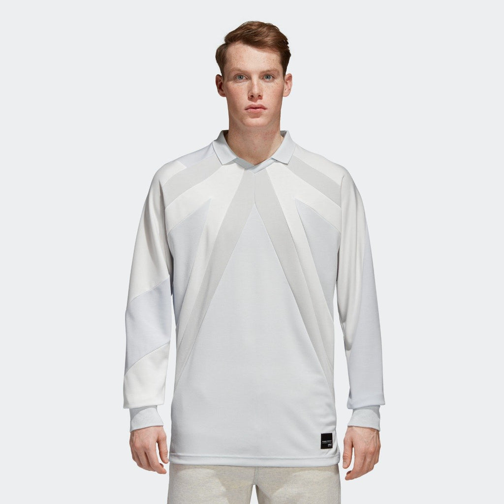 Men's adidas Originals EQT 18 Long Sleeve Tee Blue Tint and Gray