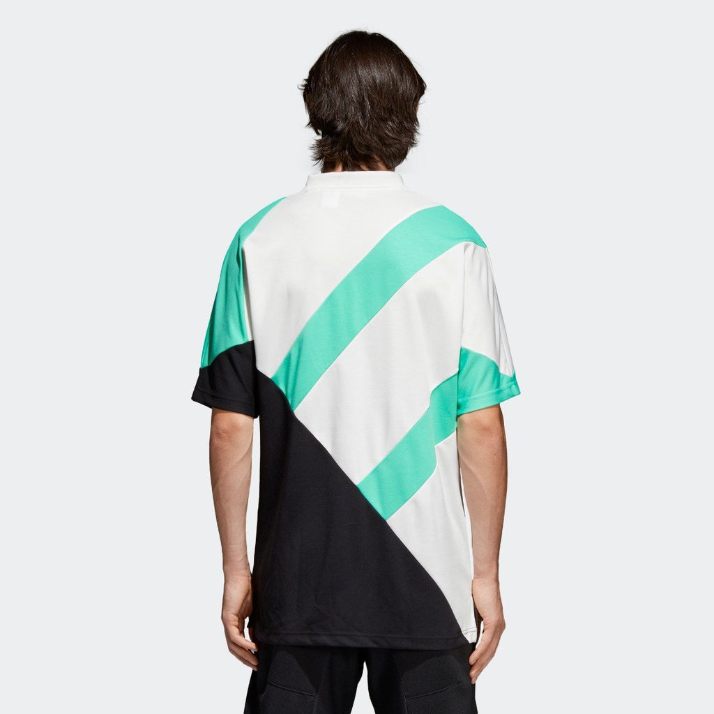 Men's adidas Originals EQT 18 Tee Black and Hi-Res Green