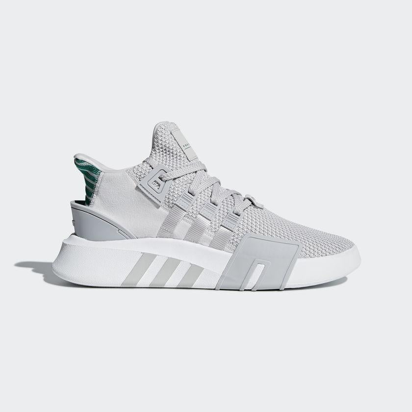 online store 77601 c7a7e Men's adidas Originals EQT Bask ADV Shoes Gray with Sub Green