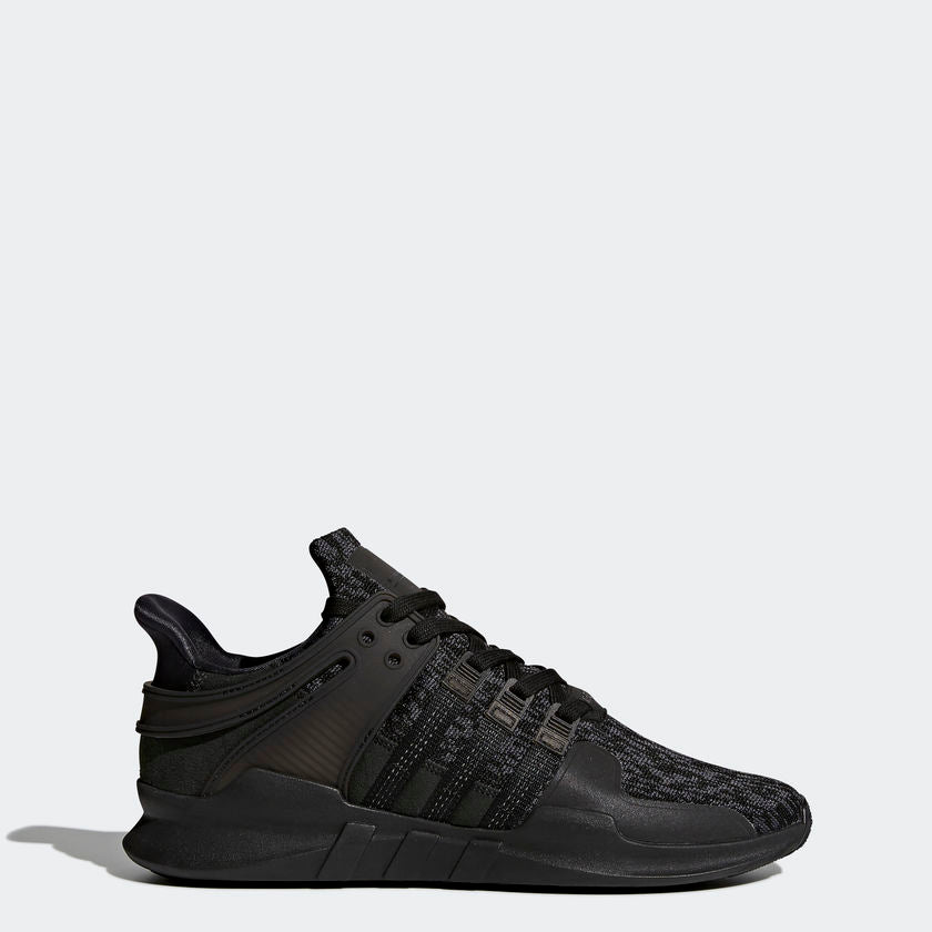 Men's adidas Originals EQT Support ADV Shoes All Core Black BY9589 | Chicago City Sports | side view