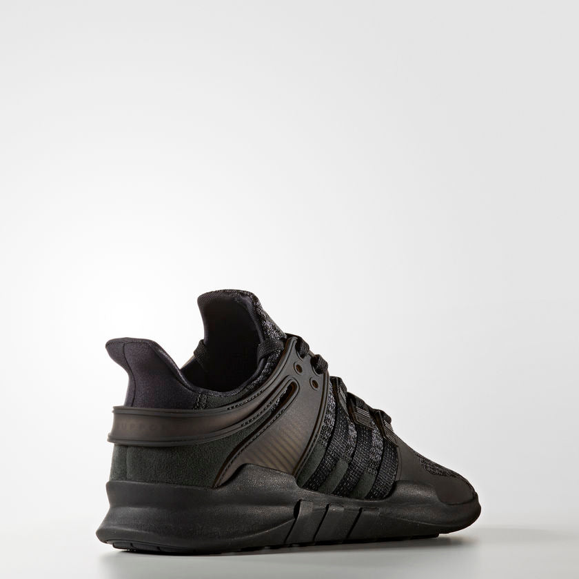 Men's adidas Originals EQT Support ADV Shoes All Core Black BY9589 | Chicago City Sports | rear diagonal view