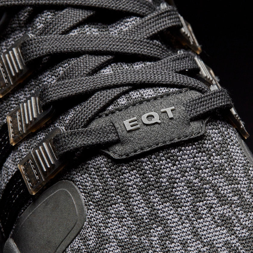 Men's adidas Originals EQT Support ADV Shoes All Core Black BY9589 | Chicago City Sports | detailed laces view