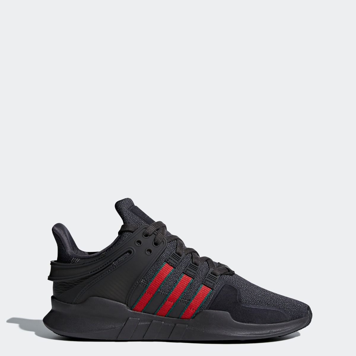 Men s adidas Originals EQT Support ADV Shoes All Core Black  Red  Green e12044506