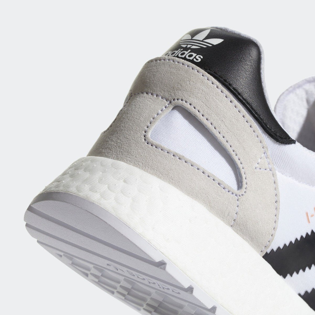 Men's adidas I-5923 Shoes White Black CQ2489 | Chicago City Sports | detailed heel view