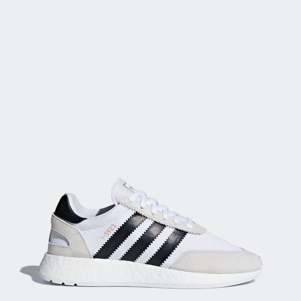 Men's adidas I-5923 Shoes White Black CQ2489 | Chicago City Sports | side view